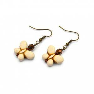 White butterfly gemstone summer ear..